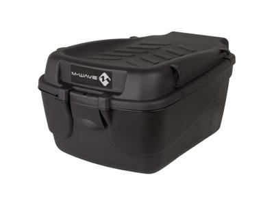 M-Wave Amsterdam Easy Box L-XL - Boks til bagagebærer - Hård plast - Sort - Str. 18 liter