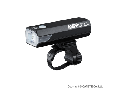 Cateye AMPP Forlygte - 500 lumen - USB Opladelig - Sort