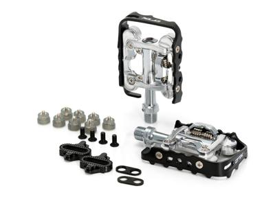 XLC - Pedal PD-S02 - Combi Almindelig/SPD - Sølv/Sort