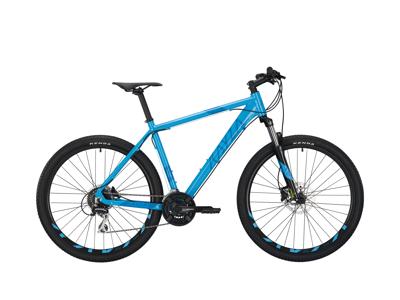 """KAYZA Spodic 4 - MTB - med 24 växlar - 27"""" hjul - Ljusblå / blå"""