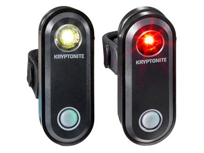 Kryptonite Avenue F-65 & R-30 S - Cykellygtesæt - 65 og 30 lumen - USB opladelig