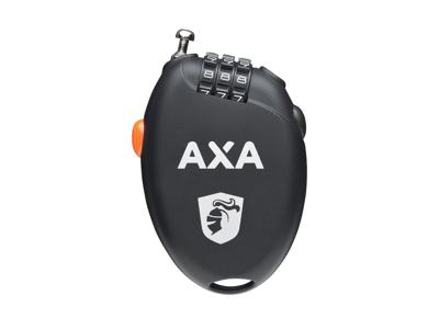 AXA Roll 75 - Spirallås med kode - 75 cm - Sort