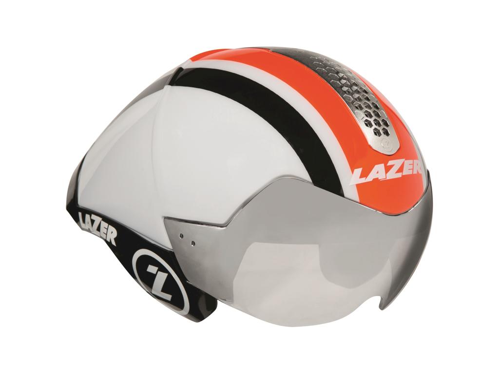 Lazer Wasp - Cykelhjelm Road/Tri - Str. 55-61 cm - Hvid/Orange/Sort