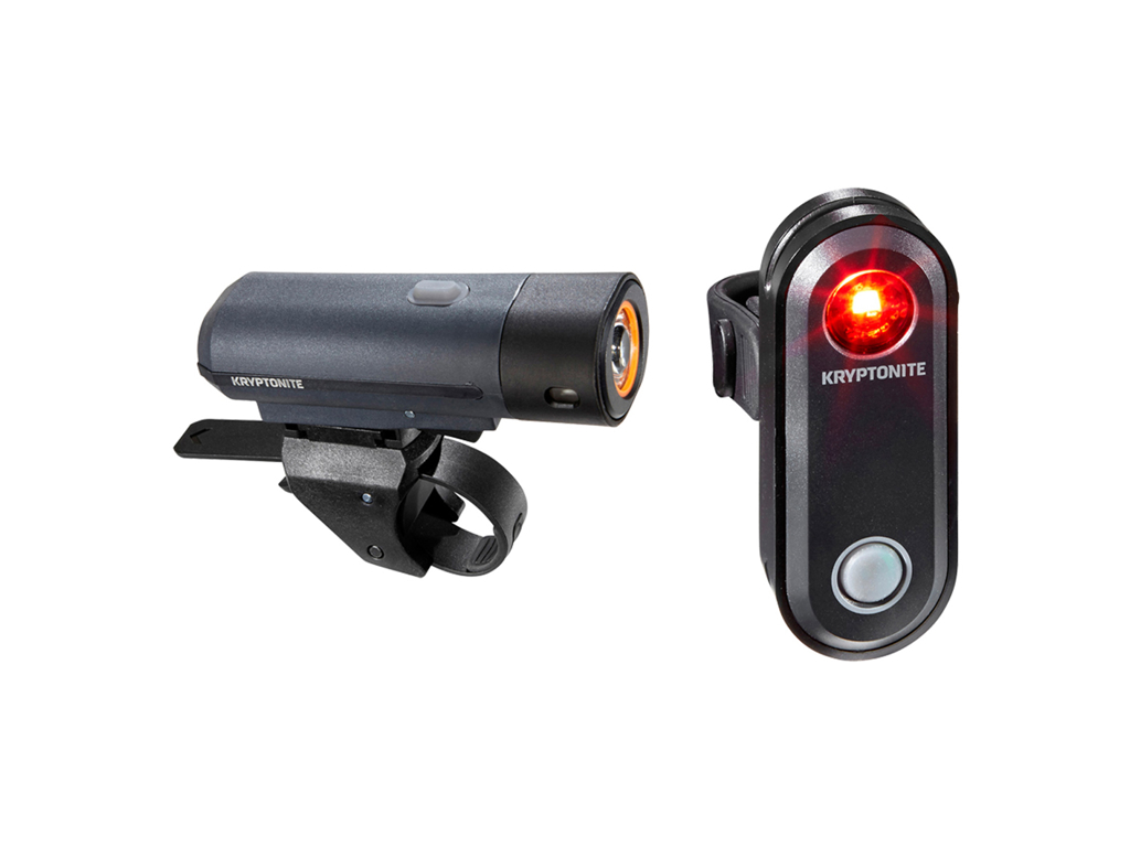 Kryptonite Street - Cykellygtesæt F300 og R30 - USB opladelig thumbnail