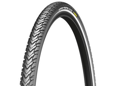 Michelin Protek Cross Max - Urban tråddæk - 700x35c (37-622) - Sort med refleks