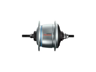 Shimano Nexus - Bagnav med 8 gear og friløb og til rullebremse - Type SG-C6061-8R - Sølv