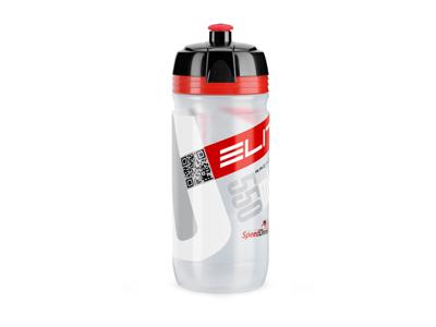 Elite Corsa - Drikkeflaske 550ml  - 100% Biologisk nedbrydelig - Klar/Rød