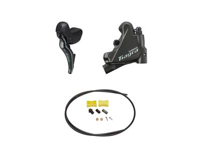 Shimano Tiagra R4725 - Skifte- og bremsegreb venstre - Hydraulisk kaliber og olieslange