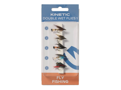 Kinetic Wet Flies Dubble Hook 1 5pcs