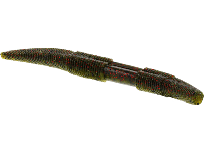 Stick Worm 12,5cm 10g Green Pumpkin Purple 5pcs