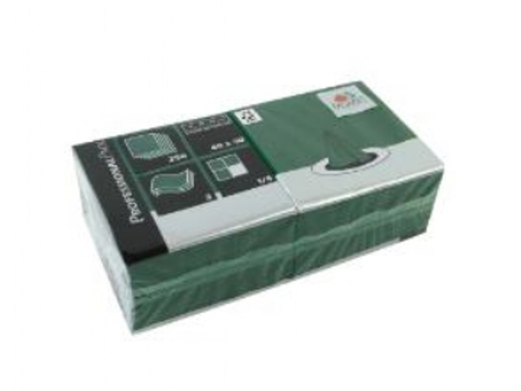 Servietter 40x40cm grøn 4x250 stk. 3-lags