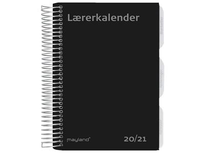 A5 Lærerkalender, uge, højformat, fiberpap, matsort, FSC Mix