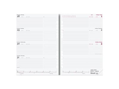 System A5 ugekalender, international, tværformat, REFILL, FS