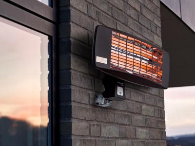 Terrassevarmer til væg, 48x22x27 cm