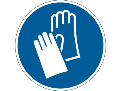 Påbudsskilt Handsker påbudt