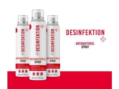 Desinfektion + til overflader og hænder 150ml