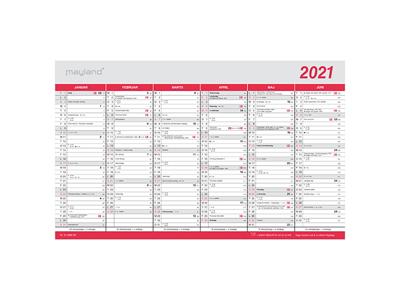 Stor kontorkalender med flagdage, FSC Mix