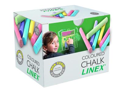Kridt Linex farvet 100 stk