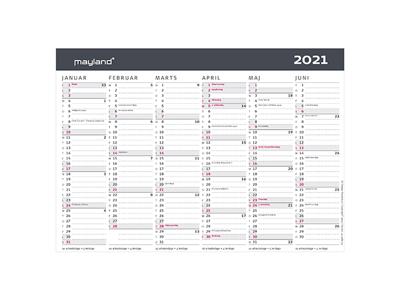 A5 kontorkalender, moderne, FSC Mix