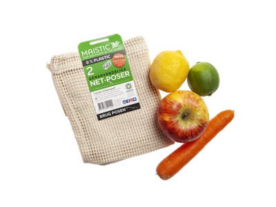 Maistic frugt/grøntpose øko-bomuld 2 stk. S+M