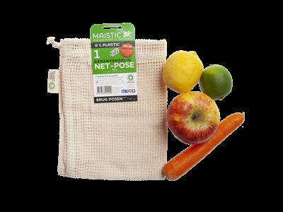 Maistic frugt/grøntpose øko-bomuld 1 stk. L