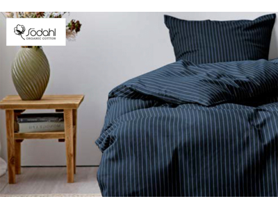 Södahl Sengetøj 140x200 cm renforcévævet i bomuld og 100% øk