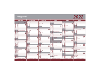 Dobbelt halvårskalender 2022, FSC Mix