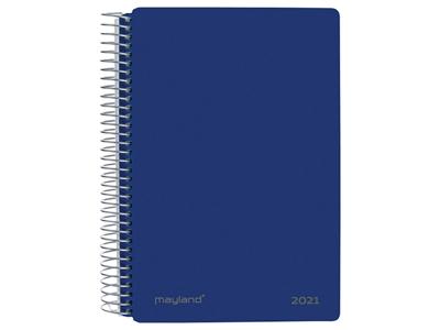 Spiralkalender, 1-dag, hård PP-plast, blå 21210020