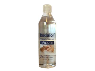 Hånddesinfektion Rodalon sprit 70% 500 ml m/skruelåg og dose