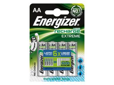 Batteri Energizer Extreme AA LR06 2400 mAh genopladelig 4 st