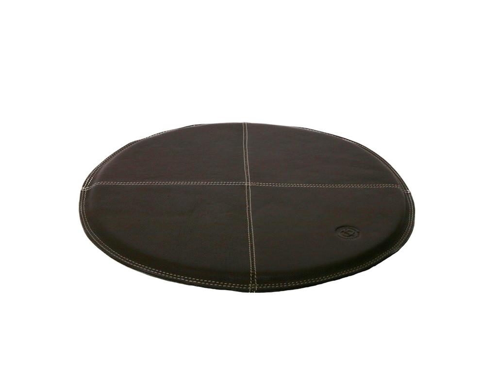 Round Seat 37Cm Leather