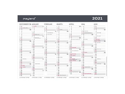 A5 Kontor-bordkalender, moderne, FSC Mix