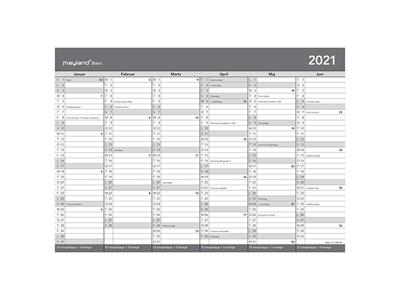 Basic A4 kontorkalender, FSC Mix