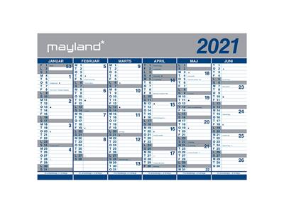 Kæmpekalender, 2x6 mdr., papir, rør 21064000