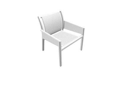 Grand Minush - Hvid - Loungestol