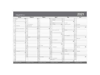 A2 kontorkalender med whiteboard-funktion, FSC Mix