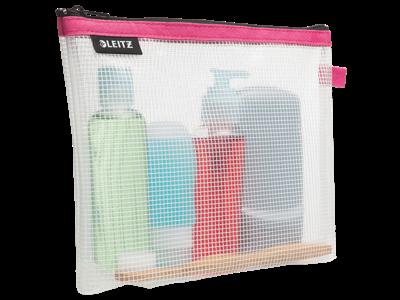 Rejselomme kosmetik vandafvisende pink