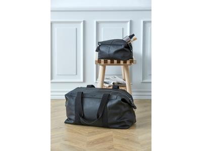 Corium Weekendtaske og Toilettaske i sort læder