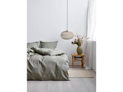 Södahl Sengetøj Khaki 140x200 cm renforcévævet i bomuld og 1