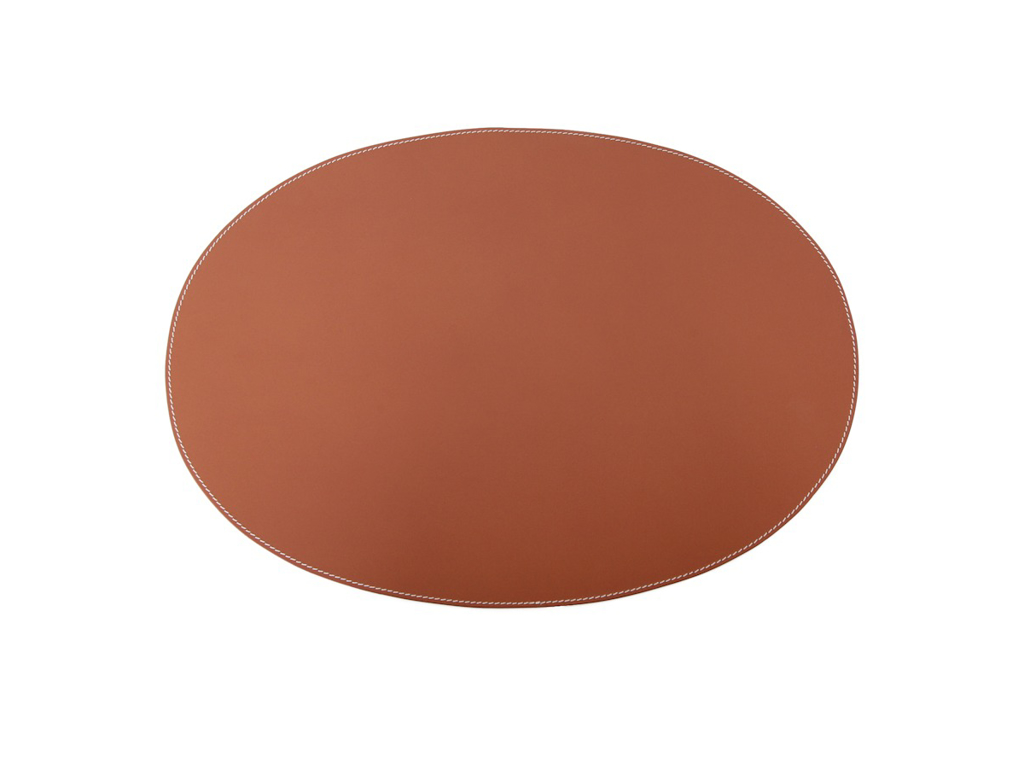 Pm Leather Oval 4 stk.