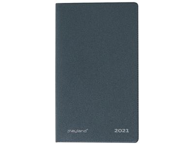 Index Planner, mini månedskalender, mappe i vinyl, mørk grå,