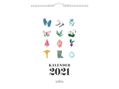 Vægkalender, Annies årsillustrationer, FSC Mix