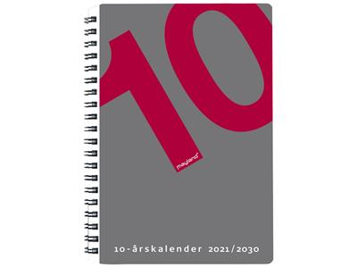 10 årskalender, A5 m/illu., FSC Mix