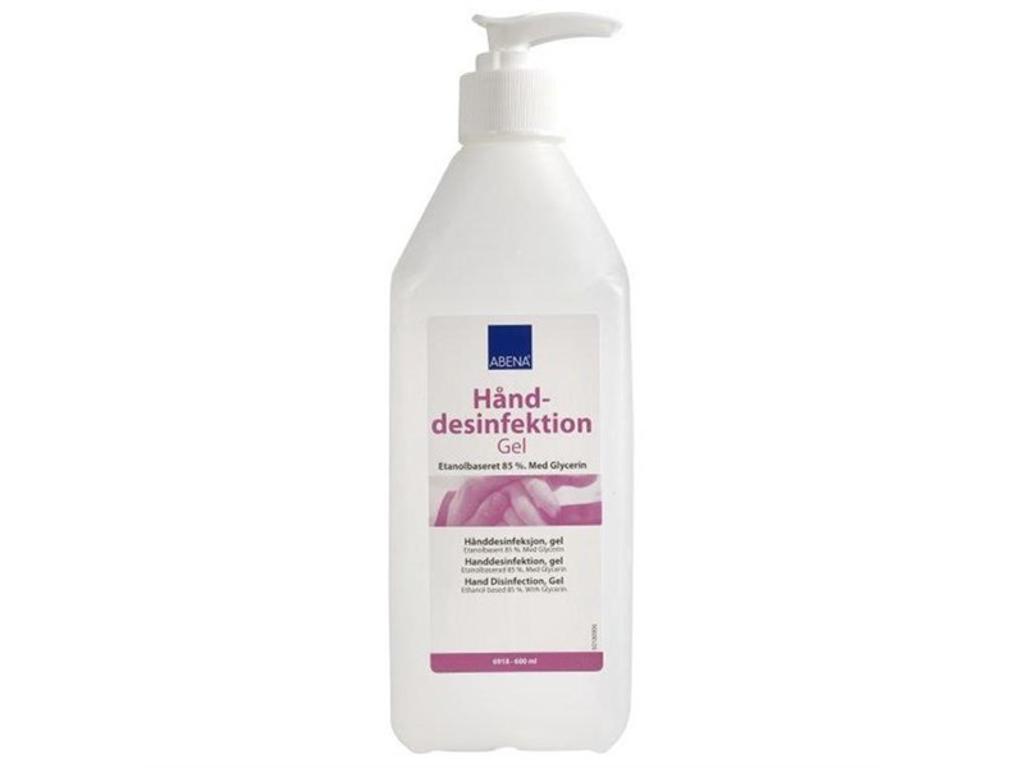 Hånddesinfektion Abena Gel 85% 600 ml med pumpe