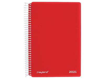 Spiralkalender, 1-dag, hård PP-plast, rød 21210040