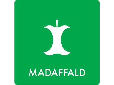 Affaldsskilt MADAFFALD 12x12 cm grøn
