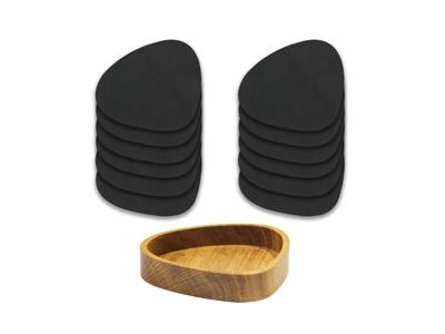 Woodbox med 12 stk. matchende glasbrikker - Nupo