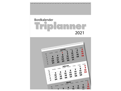 Bordkalender, Triplanner, FSC Mix