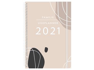 Familie Ugeplanner A5, tekstilpræg, FSC Mix