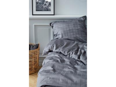 Södahl Sengetøj Grey 140x220 cm satinvævet i 100% bomuld, Cl